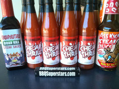 9 Bottles of Cheap Thrill Louisiana Cayenne 1 BBQSuperStars Steak Sauce 1 Ass Kickin Steak Sauce
