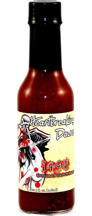 Heartbreaking Dawn's 1498 Trinidad Scorpion Sauce