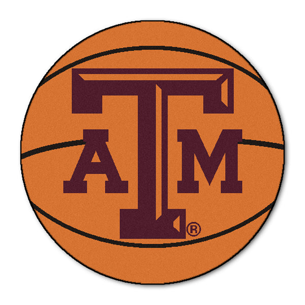 "Texas A&M ""Basketball"" Round Floor Mat (29"")"