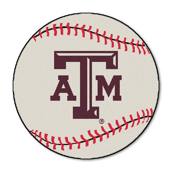 "Texas A&M ""Baseball"" Round Floor Mat (29"")"