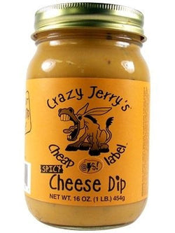 Crazy Jerry's Cheap @#$! Label Spicy Cheese Dip