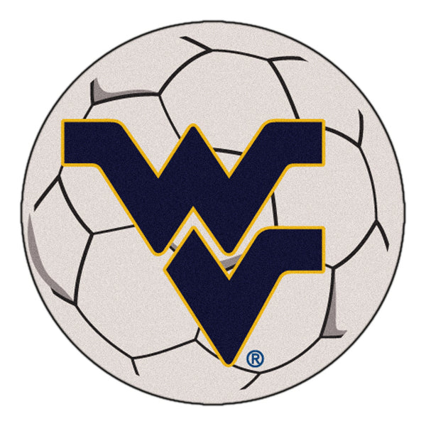 "West Virginia NCAA ""Soccer Ball"" Round Floor Mat (29"")"