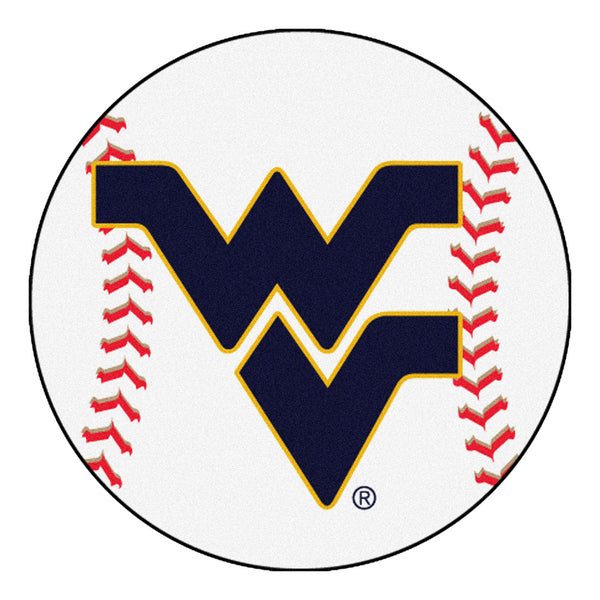 "West Virginia ""Baseball"" Round Floor Mat (29"")"