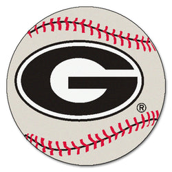 "Georgia Bulldogs ""Baseball"" Round Floor Mat (29"")"