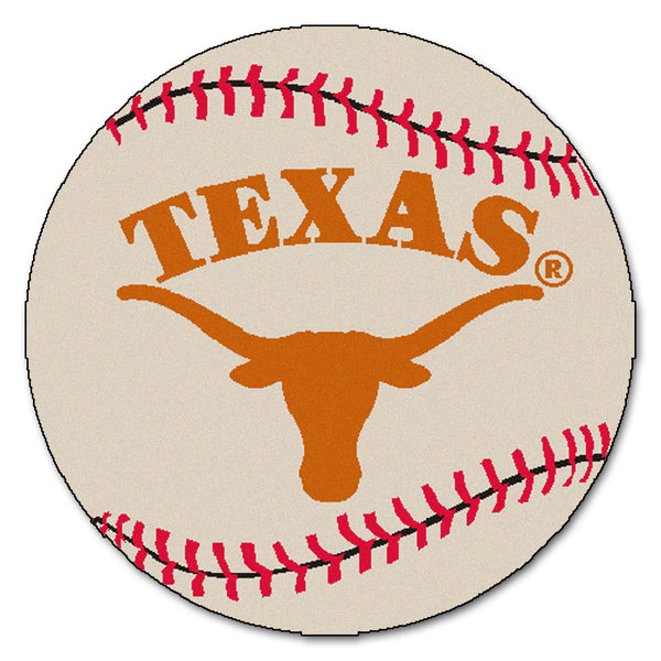 "Texas ""Baseball"" Round Floor Mat (29"")"