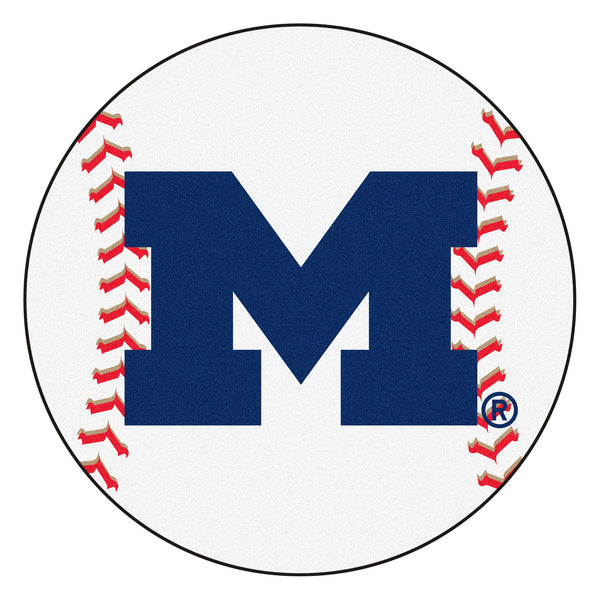 "Michigan ""Baseball"" Round Floor Mat (29"")"