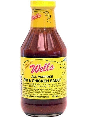 Wells Pork Rib and Chicken Barbecue Sauce