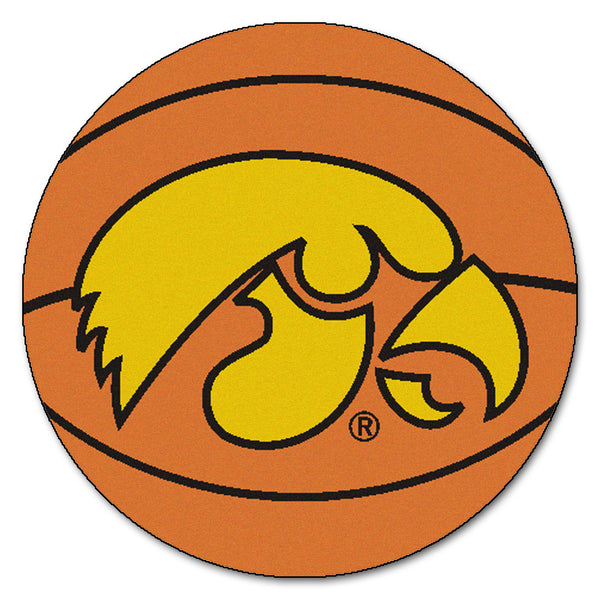 "Iowa Hawkeyes ""Basketball"" Round Floor Mat (29"""