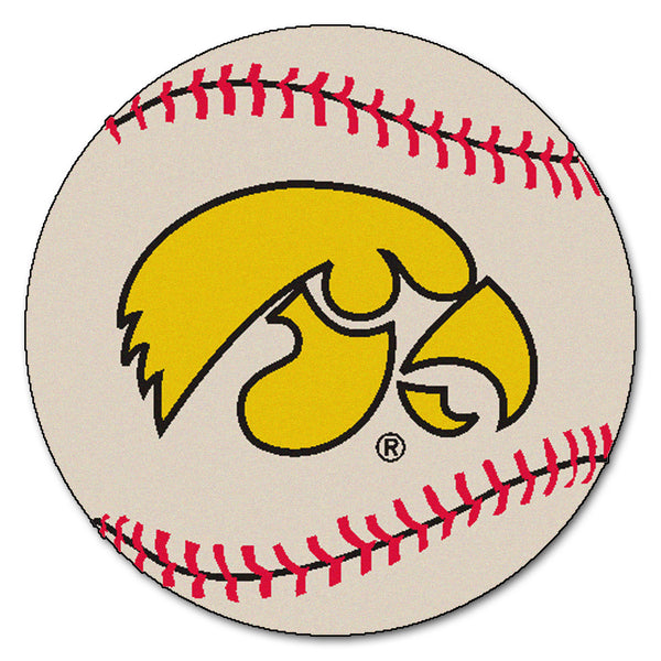 "Iowa Hawkeyes ""Baseball"" Round Floor Mat (29"")"