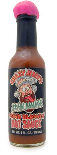 Crazy Jerry's Brain Damage Mind Blowin Hot Sauce