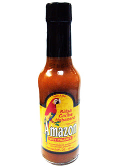Amazon Caribbean Habañero Sauce – Very Hot – 5.6 ounce bottle
