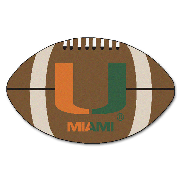 "Miami ""Football"" Floo Mat (22""x35"")"