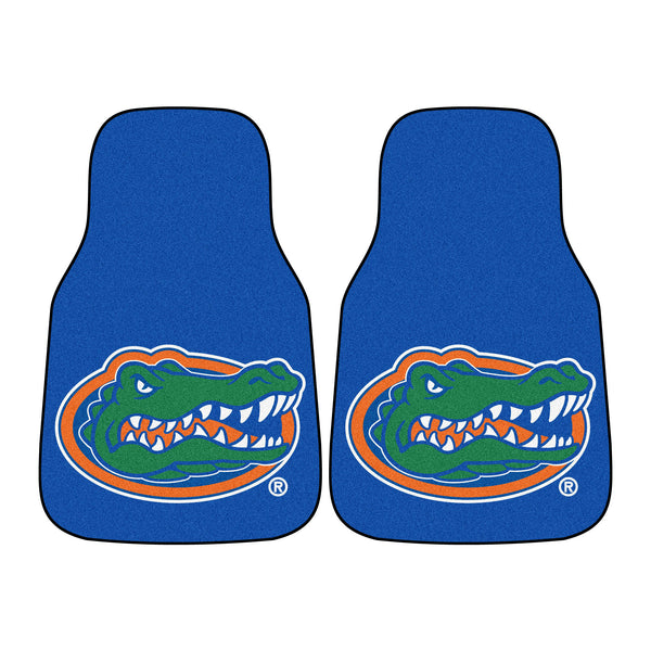 "Florida 2-Piece Printed Carpet Car Mats (18""x27"")"