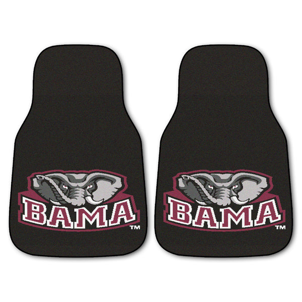 "Alabama 2-Piece Printed Carpet Car Mats (18""x27"")"