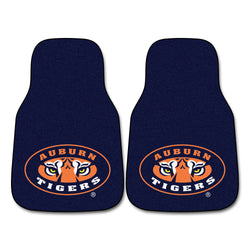 "Auburn Tigers 2-Piece Printed Carpet Car Mats (18""x27"")"