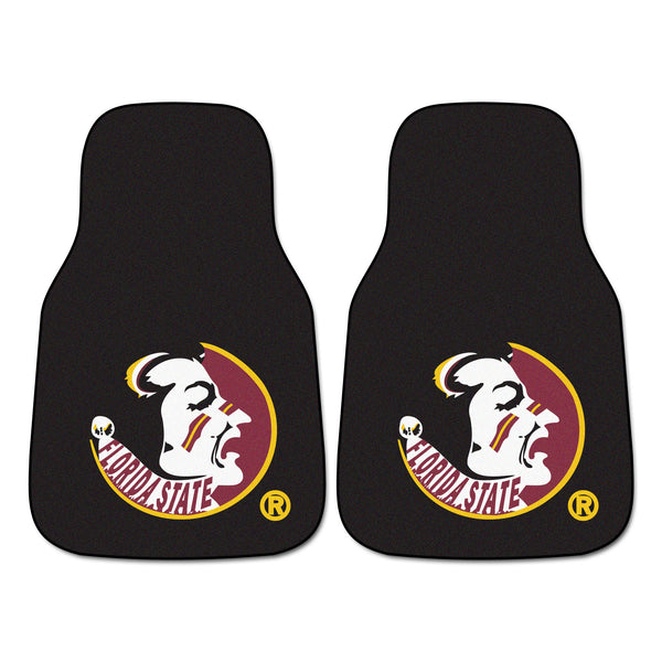 "Florida State 2-Piece Printed Carpet Car Mats (18""x27"")"