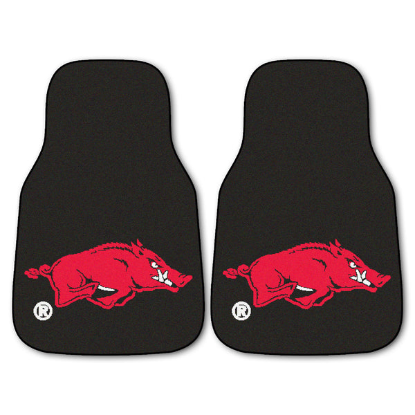 "Arkansas 2-Piece Printed Carpet Car Mats (18""x27"")"