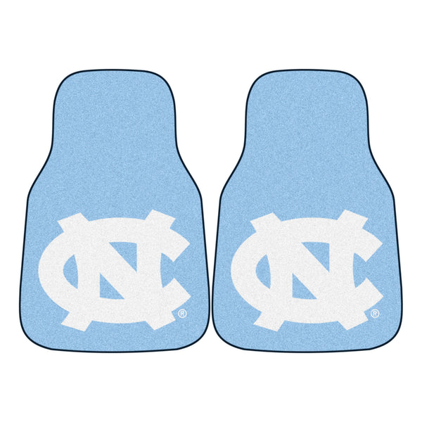 "North Carolina 2-Piece Printed Carpet Car Mats (18""x27"")"