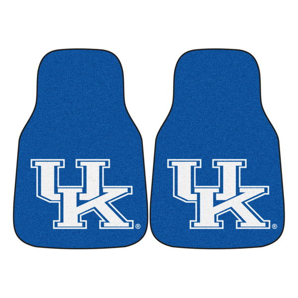 "Kentucky 2-Piece Printed Carpet Car Mats (18""x27"")"