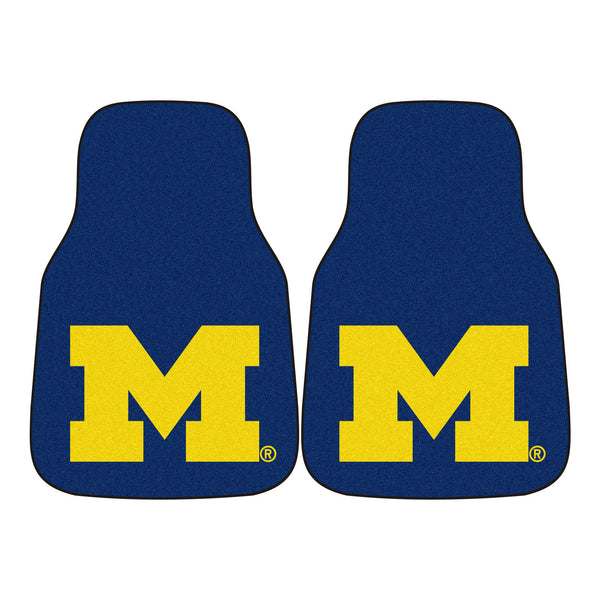 "Michigan 2-Piece Printed Carpet Car Mats (18""x27"")"