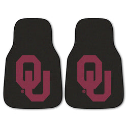 "Oklahoma 2-Piece Printed Carpet Car Mats (18""x27"")"