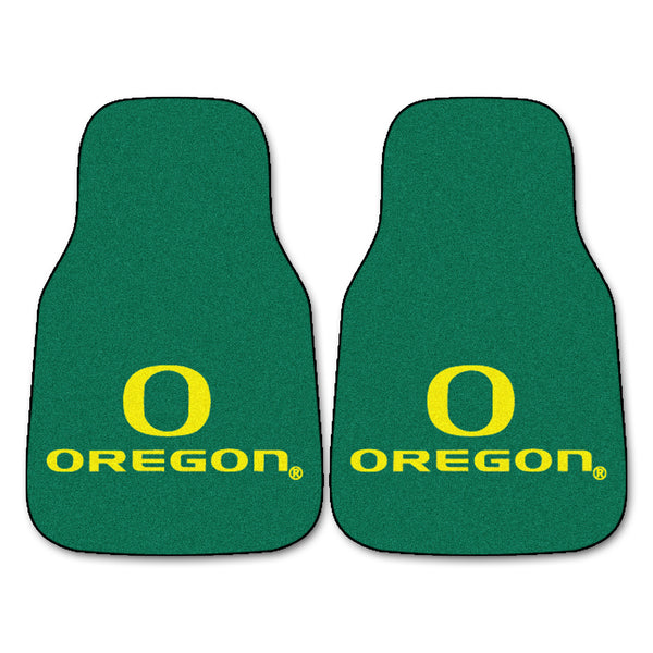 "Oregon 2-Piece Printed Carpet Car Mats (18""x27"")"