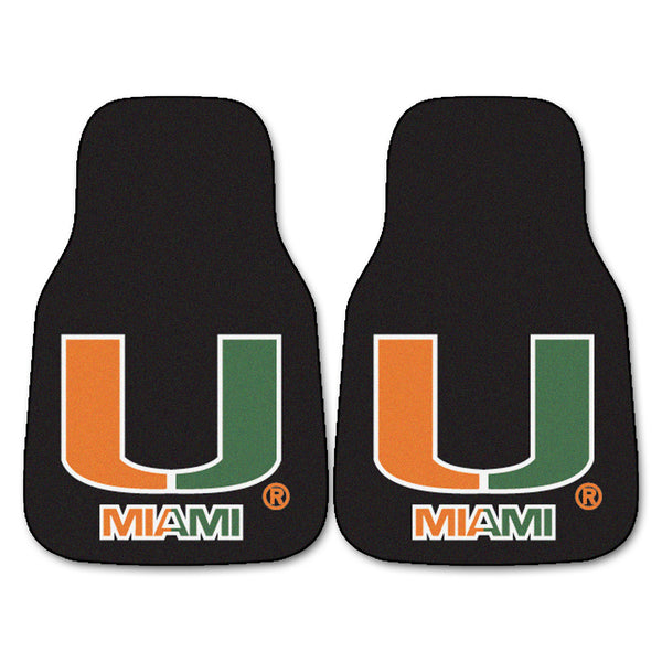 "Miami 2-Piece Printed Carpet Car Mats (18""x27"")"