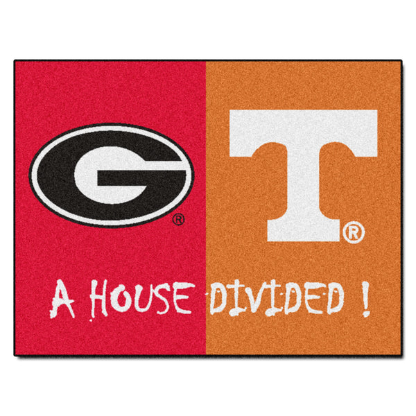 "Georgia/Tennessee House Divided NCAA ""All-Star"" Floor Mat (34""x45"")"