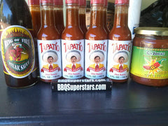 9 Bottles of Tapatio Hot Sauce, Cajohn's Black Bean & Corn Salsa, Ring of Fire Steak Sauce