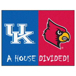 "Kentucky/Louisville House Divided NCAA ""All-Star"" Floor Mat (34""x45"")"