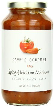 Dave's Gourmet Spicy Heirloom Marinara Organic Pasta Sauce – 25.5 ounce jar