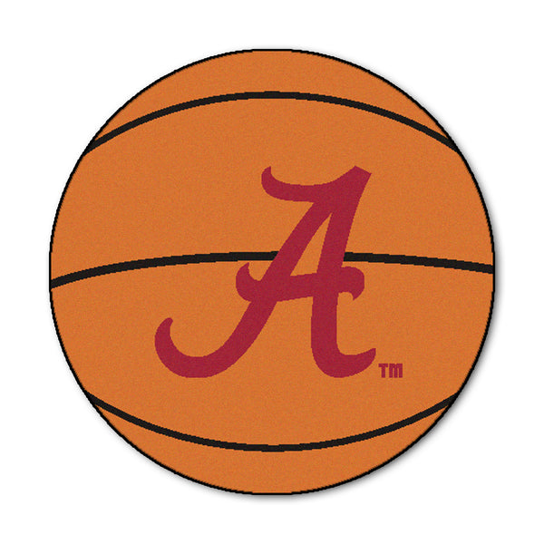 "Alabama  ""Basketball"" Round Floor Mat (29"""