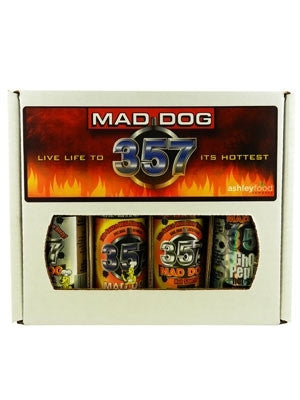 Mad Dog Gift Box (Four 5oz. bottles) Includes one each of: