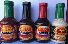 Big Bob Gibson Sampler Pack Sauce 19 oz X4