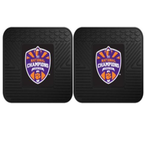 Clemson National Champions Utility Mat 14X17 Set of 2 Mat