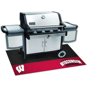 Wisconsin Badgers NCAA Vinyl Grill Mat