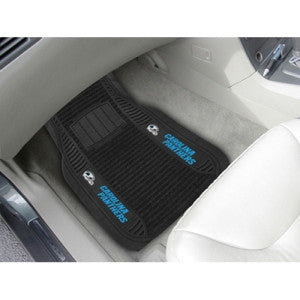 "Carolina Panthers NFL Deluxe 2-Piece Vinyl Car Mats (20""x27"")"