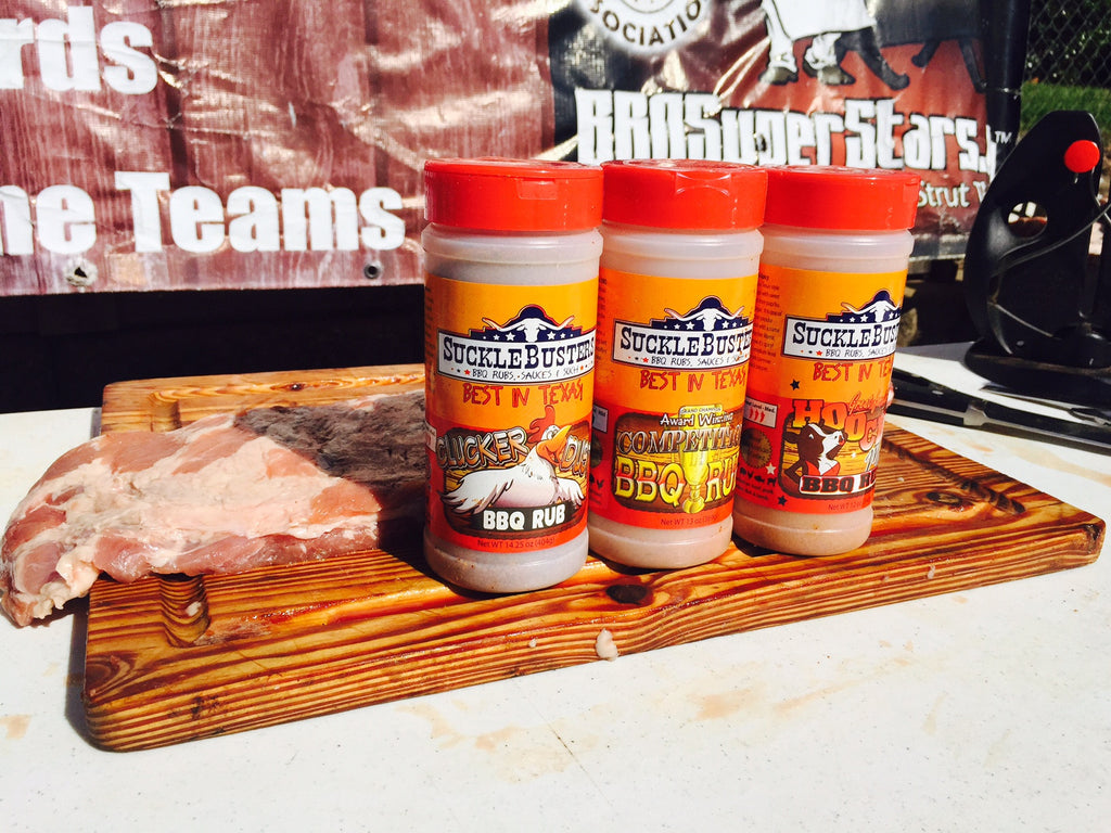 Sucklebusters Clucker Dust BBQ Rubs 14.25 oz Competition Rub 13 oz Hoochie Moma 13 oz