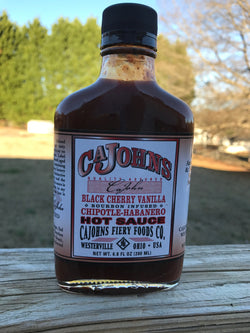 Cajohn's Bourbon Infused Black Cherry Vanilla Chipolte Habanero Hot Sauce