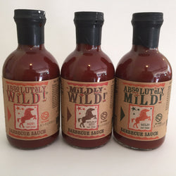 Absolutely World Famous BBQ Sauce 19.4 oz 3 Flavor