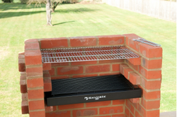 BRICK BBQ KIT BKB 202 WITH WARMING RACK & COVER