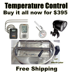 Temperature Control Mega Pack, Rib-O-Lator, Thermometeral, Grill Light, Maverick Temp Control