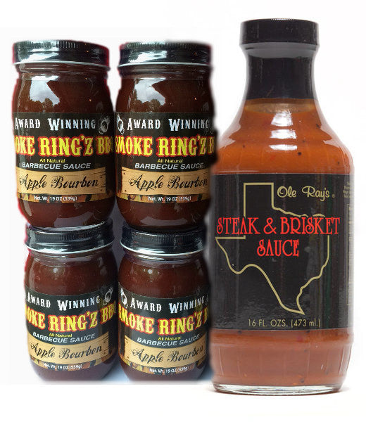 Smoke Ring'z Apple Bourbon BBQ Sauce - Ole Ray's Steak and Brisket