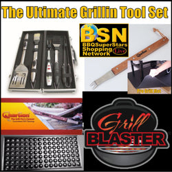 Ultimate Grillin Tool Set with Mega Mat