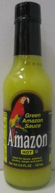 Amazon Green Amazon Sauce – Hot – 5.6 ounce bottle