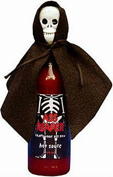 Ass Reaper Hot Sauce with Skull Cap and Cape