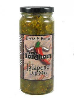 Texas Longhorn Bread and Butter Jalapeno Dip Mix