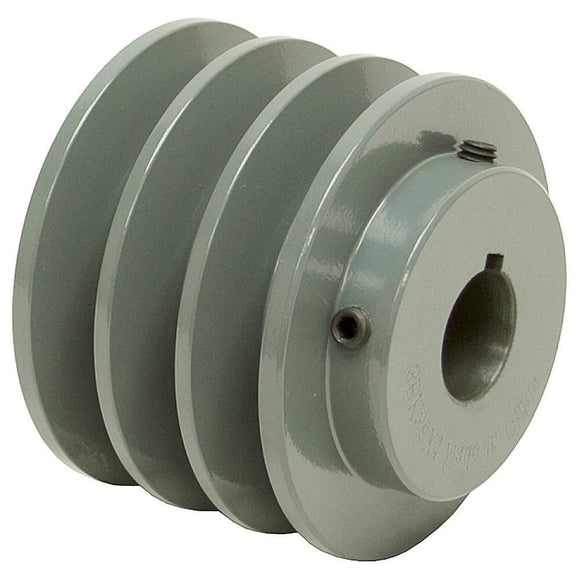 3BK25 Triple Groove Finished Bore Sheave | Finished Bore Sheave | Inertia Industrial