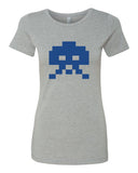 8-bit Alien - T-Shirt - Women - Gray