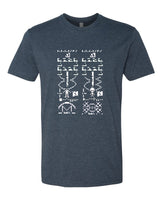 Crop Circles: Arecibo Message - T-Shirt - Men - Navy